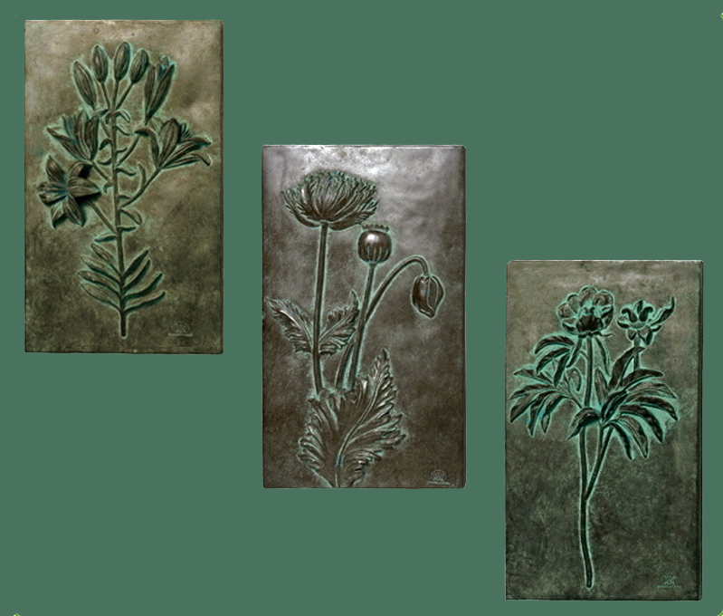 See the Botanical Triptych Plaques